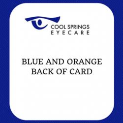 Blue and Orange Card Back Side