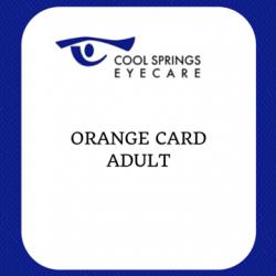 Orange Card Adult Front