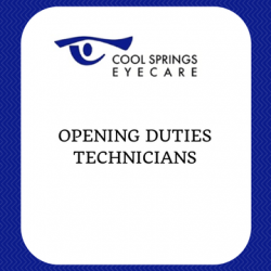 Opening Duties - Technicians