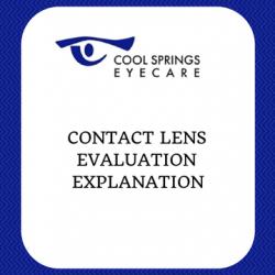 Contact Lens Evaluation Explanation
