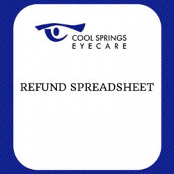 Monthly Refund Spreadsheet
