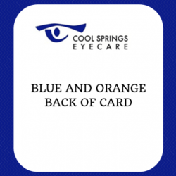 Blue and Orange Card Back Side