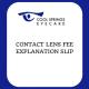 Contact Lens Fee Slip