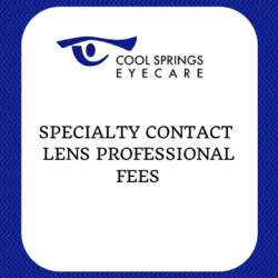 Specialty Contact Lens Fee Schedule