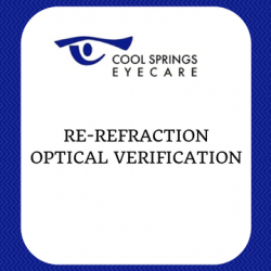 Re-Refraction Optical Verification Form