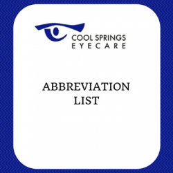 Abbreviation List