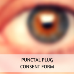 Punctal Plug Consent Form